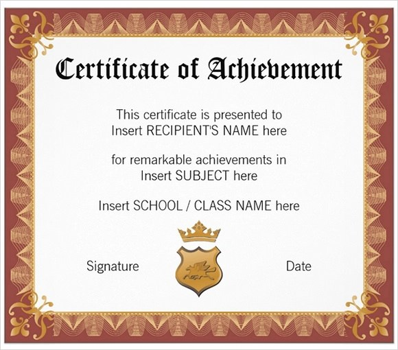 23+ School Certificate Templates - Samples , Examples , Format - sample school certificate