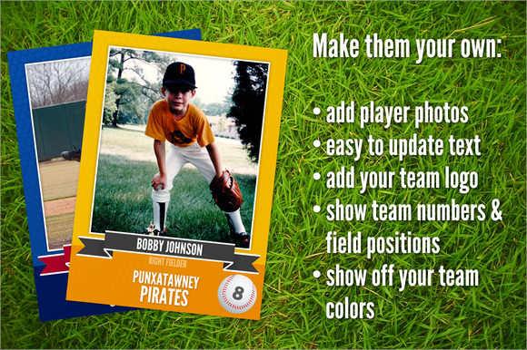 9+ Trading Card Templates \u2013 Free Samples, Examples  Formats