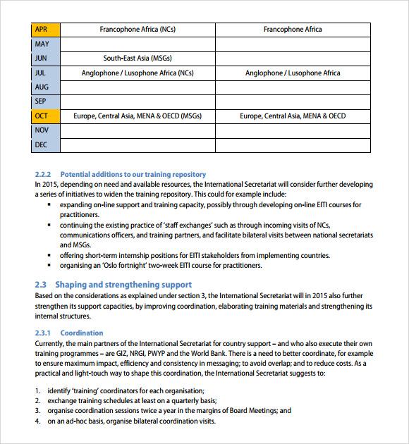 training agenda example - Pinarkubkireklamowe