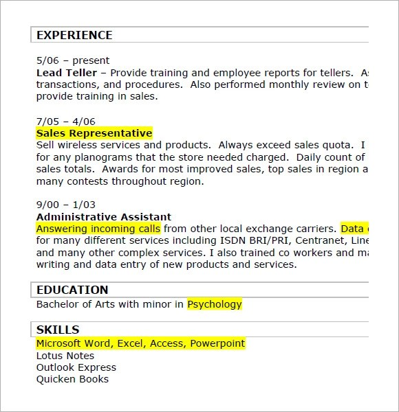 8 Retail Resumes \u2013 Samples , Examples  Format Sample Templates