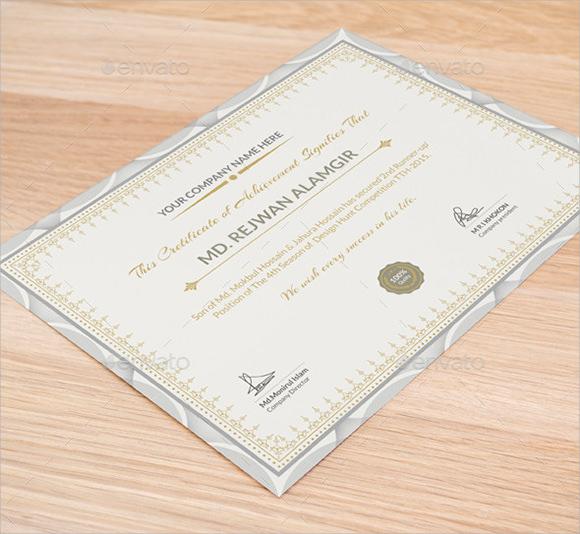 scholarship certificate format - Apmayssconstruction
