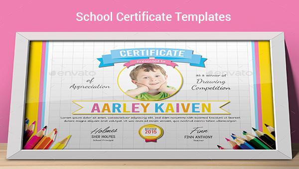 30+ School Certificate Templates \u2013 Samples , Examples  Format - school certificate templates