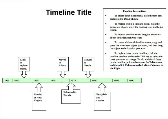 timeline word template - Onwebioinnovate - timeline word template