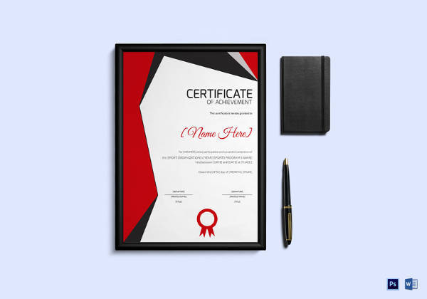 Sample Award Certificate Template - 23+ Samples, Examples, Format