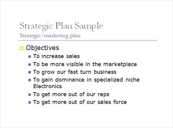 Sample Sales Plan - 9+ Example, Format - sales plan format