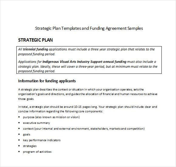 Sample Strategic Plan Template - 11+ Free Documents in PDF, Word