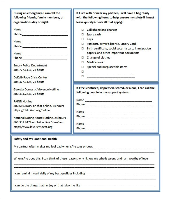 11 Safety Plan Templates \u2013 Free Samples, Examples  Format Sample