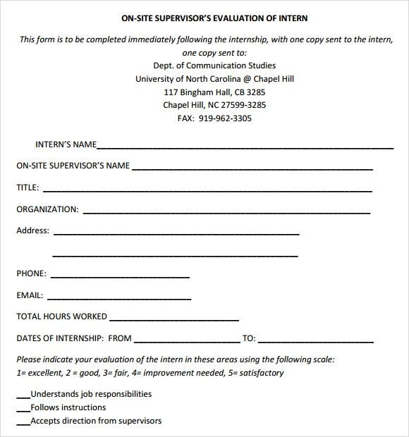 Training Evaluation Form By Supervisor  Medicare And Medicaid
