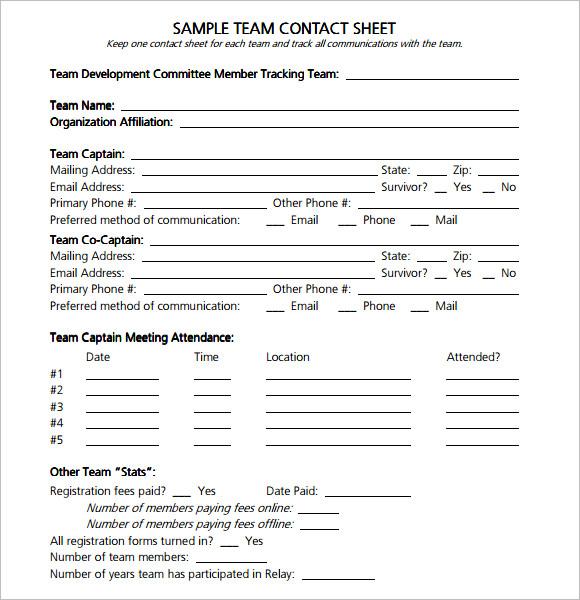 sample contact sheet templates - sample contact sheet