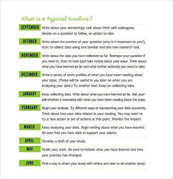 8+ Timeline for Student Samples Sample Templates - timeline template for student