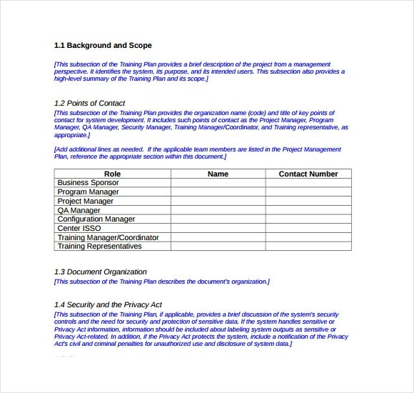 12+ Sample Training Plans Sample Templates - sample training plan