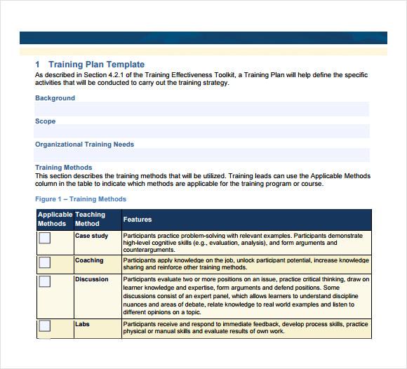 sample training curriculum template