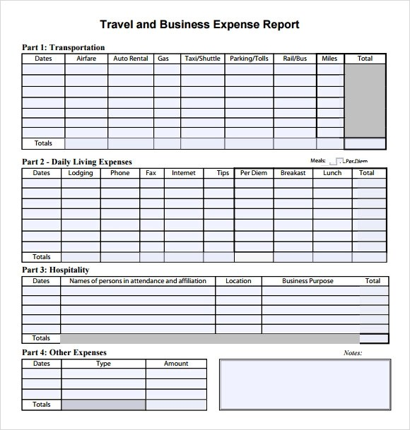 9 Expense Report Templates \u2013 Free Samples , Examples  Format - transportation log template