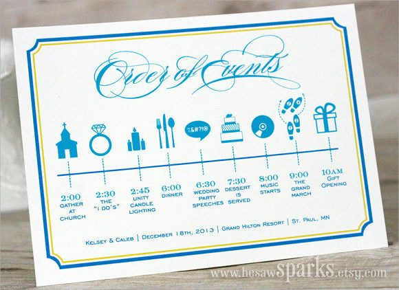 wedding party timeline template