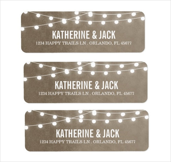 wedding return address label templates - Ozilalmanoof - printable return address labels free