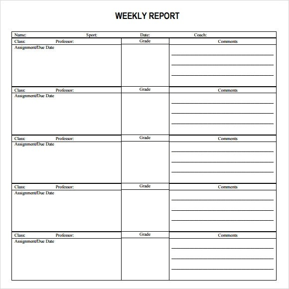 monthly report format template - format for monthly report