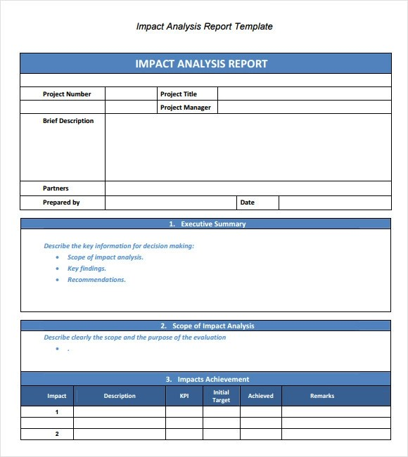 Sample Analysis Report Template - 9+ Free Document in PDF - analysis report format