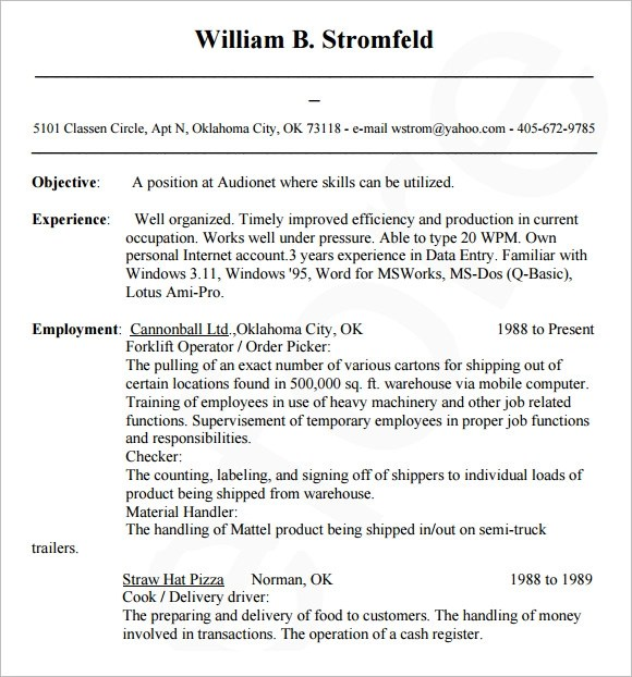 10+ Sample Database Administrator Resume Sample Templates - Database Administrator Resume