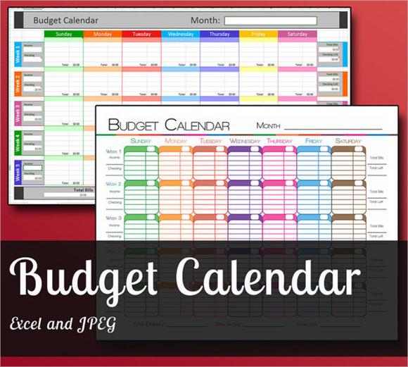7 Budget Calendar Templates \u2013 Free Samples , Examples  Format - monthly budget calendar template