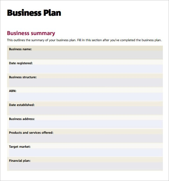 11 Business Plan Templates \u2013 Free Samples, Examples  Format - business plan template doc
