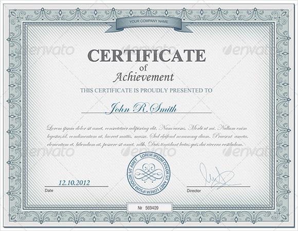 9+ Certificate of Achievement Templates Sample Templates