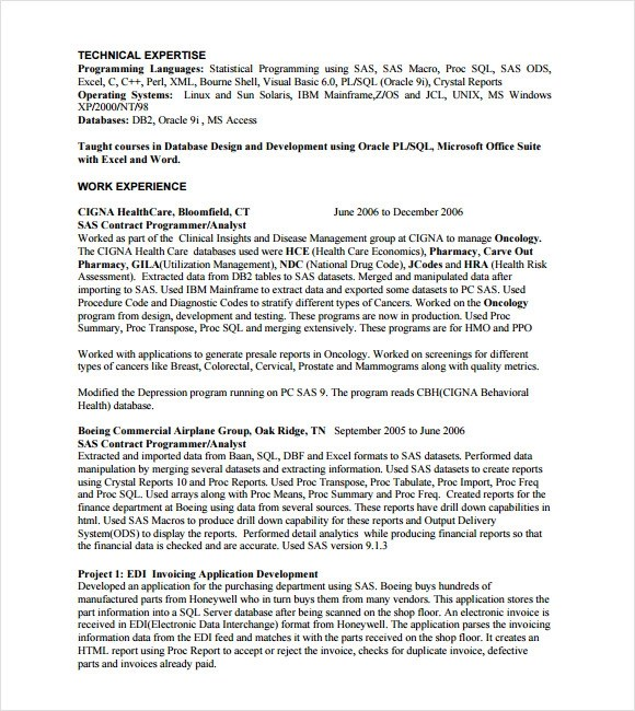 Programmer Cover Letter Resume Sample Job Position In Business ...