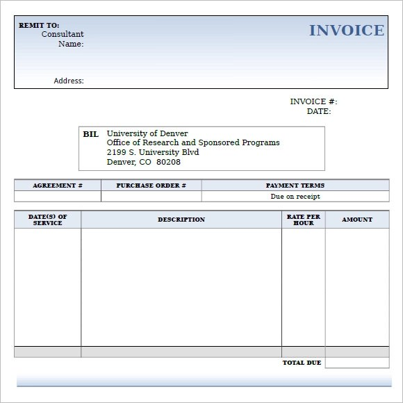 9+ Consulting Invoice Samples Sample Templates - it consultant invoice template