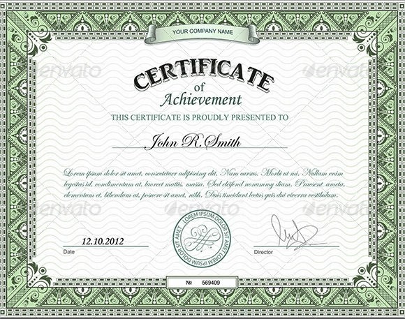8+ Certificate of Achievement Template \u2013 Sample, Example, Format