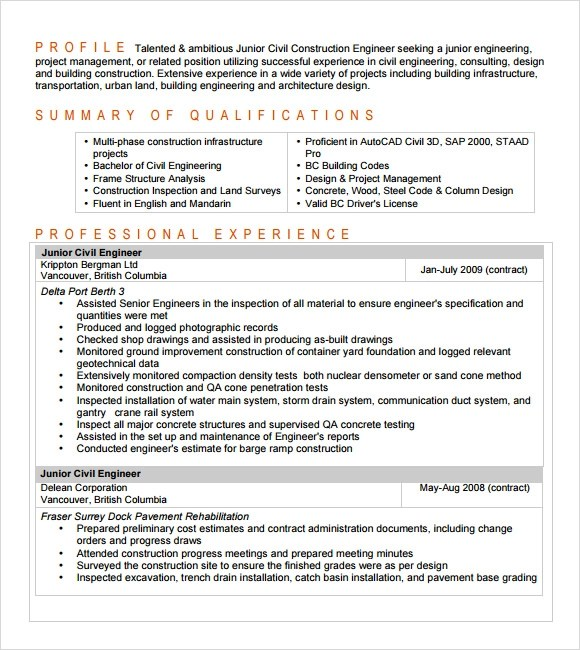 entry level civil engineering resumes - Boatjeremyeaton - entry level civil engineering resume