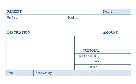 9 Sales Receipt Templates \u2013 Free Samples, Examples  Format Sample