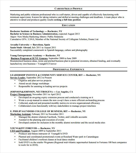 Mckinsey Resume Example - Examples of Resumes - Social Media Consultant Sample Resume