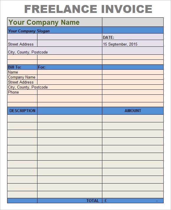 8 Freelance Invoice Templates \u2013 Free Samples, Examples  Format