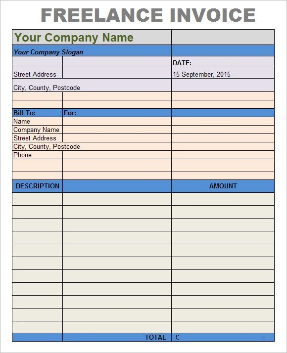sample invoice format in excel
