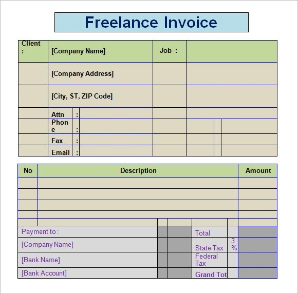 freelance invoice template - 28 images - freelance invoice template