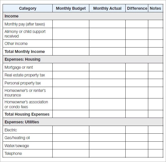 monthly household budget template free - Bire1andwap - free household budgets