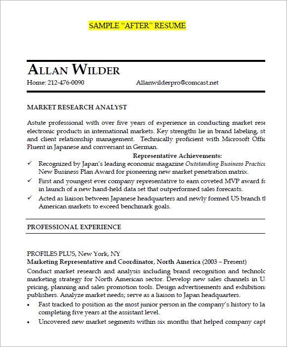 market research resume exles - 28 images - resume sles u0026 exles - marketing analyst resume