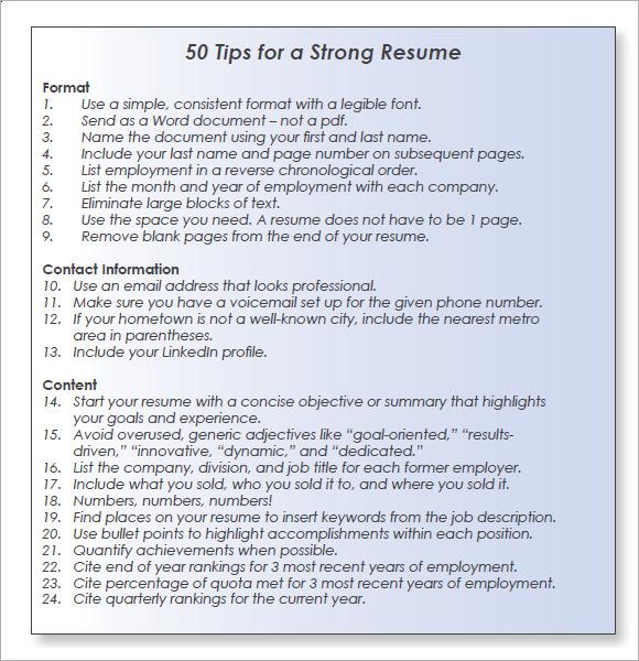 resume objective sales