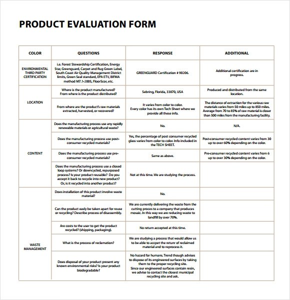 Sample Form Template Html Sample Emergency Contact Form Sample Templates Sample  Product Evaluation 8 Examples Format