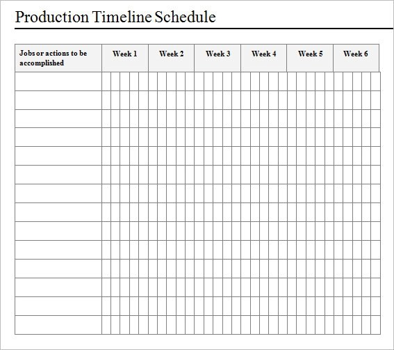 Production Schedule Template  EnvResumeCloud