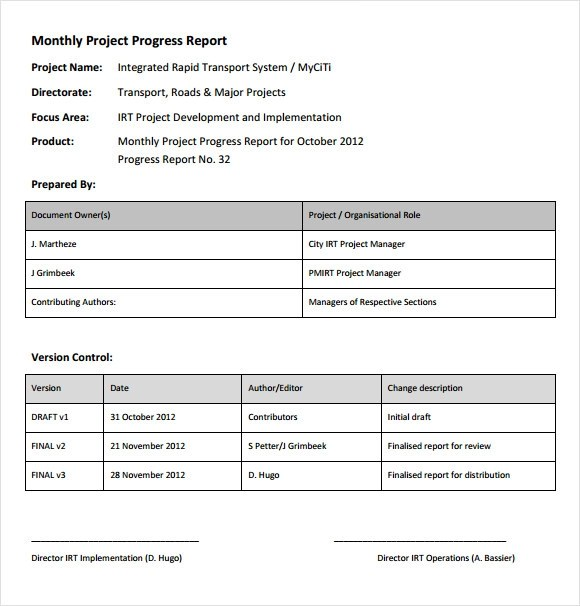 14+ Sample Project Status Reports \u2013 PDF, Word, Pages, Portable