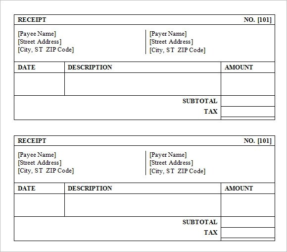 9 Sales Receipt Templates \u2013 Free Samples, Examples  Format Sample - cash sales receipt