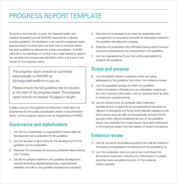 11+ Sample Progress Reports Sample Templates