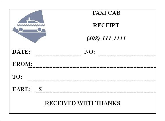 taxi cab receipt generator