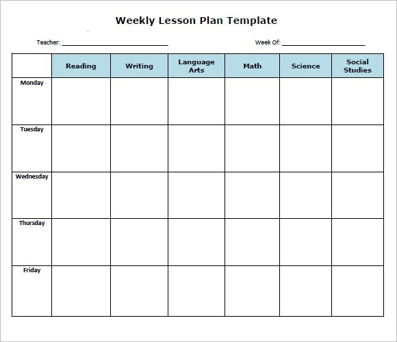 Sample Weekly Lesson Plan - 8+ Documents In PDF, Word