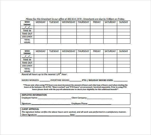 √ 9+ Sample Attorney Timesheets