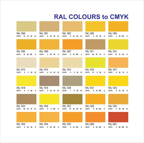 Sample Cmyk Color Chart Fairyultradio