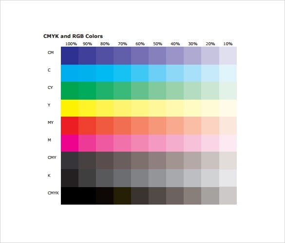 Sample Rgb Color Chart - staruptalent - - sample cmyk color chart