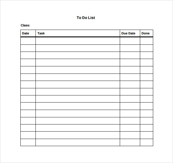 10+ To Do List Samples Sample Templates - sample to do list