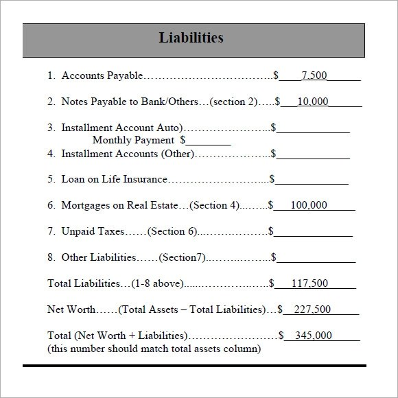 Sample Personal Financial Statement - 7+ Documents in Word, PDF - sample personal financial statement