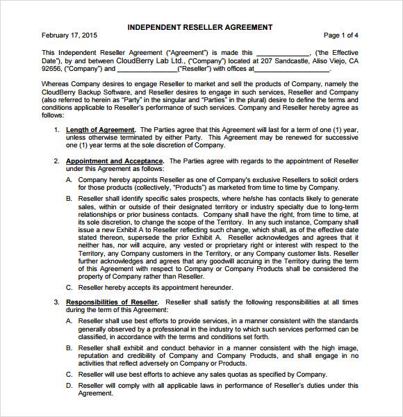 Sample Reseller Agreement Zendesk Reseller Program Agreement This